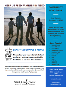 2015 food drive flyer